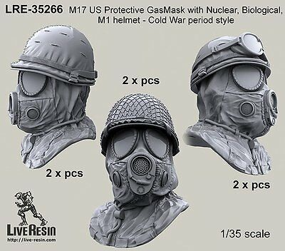 $ CDN15.95 • Buy Live Resin 35266 1/35 M17 US Protective Gasmask With NBC Hood & M1 Helmet