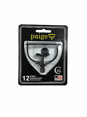 $ CDN36.75 • Buy Paige Guitar Capo - Clik - 12 String - Black Acoustic Made In The USA
