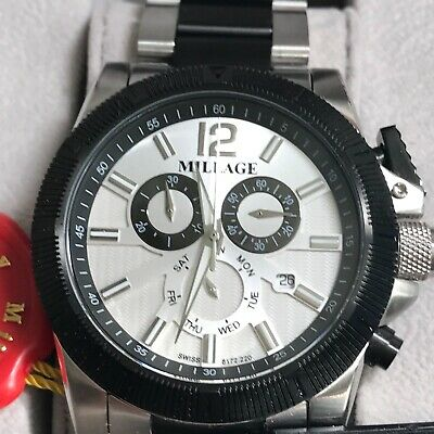 $549 • Buy Authentic Millage Swiss Made Analog Chronograph Mens Watch.