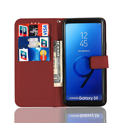 $ CDN12.65 • Buy Retro Magnetic Leather Flip Wallet Case For Samsung Galaxy S9 S7 Note 8 A8 Plus