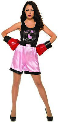 £20.86 • Buy Female Boxer Womens Adult Sporty Halloween Costume