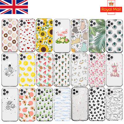UK Soft Silicone Phone Case IPhone 11 PRO 6/7/X SAMSUNG S10 S20 HUAWEI P30 Lite • 4.45£