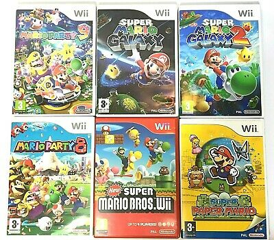 Wii Mario Games - Party 8 9/Paper/Galaxy 2/New Super Bros Etc  **Choose A Game** • 13.95£