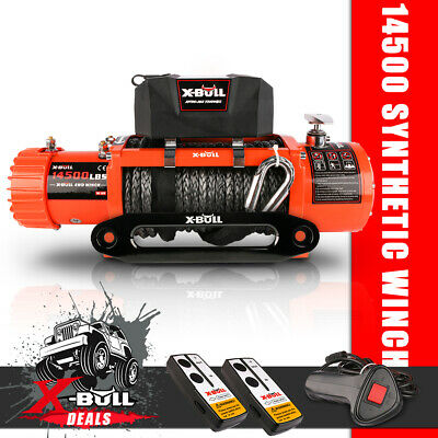 AU489 • Buy X-BULL Electric Winch 14500LB/6577KG 12V Synthetic Rope Wireless Remote 4WD 4x4