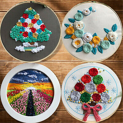 Cross Stitch Kits For Starter Hand Embroidery Art For Hanging Wall Decoration • 13.99£
