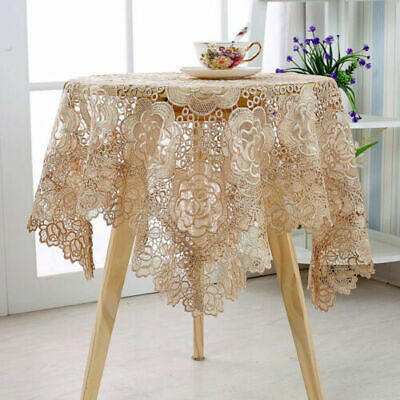 £6.15 • Buy Lace Floral Square Tablecloth Doily Table Cloth Cover Wedding Party Decor Coffee