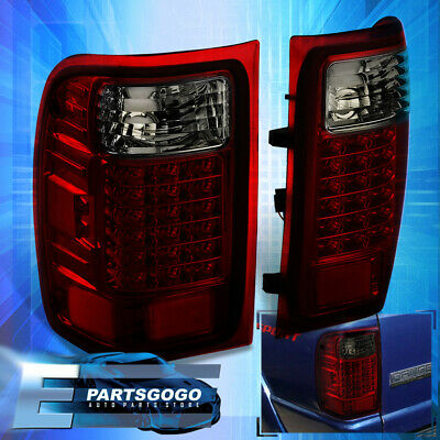 $103.99 • Buy For 01-11 Ford Ranger Pickup LED Tail Lights Brake Lamps Left+Right Red Smoked