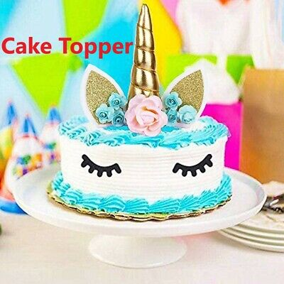 AU8.59 • Buy 1 Pack Unicorn Cake Topper Party Cake Necessary Decorations Cute Vivid Image
