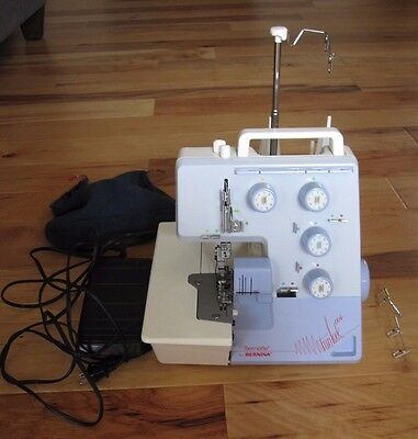 $299.95 • Buy BERNINA BERNETTE FUNLOCK 004 SEWING MACHINE SERGER W/ Pedal VINTAGE WORKING