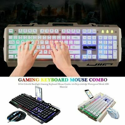 Pro USB Wired Gaming Keyboard Mouse Set Combo RGB LED Backlight For PC Computer • 23.49£