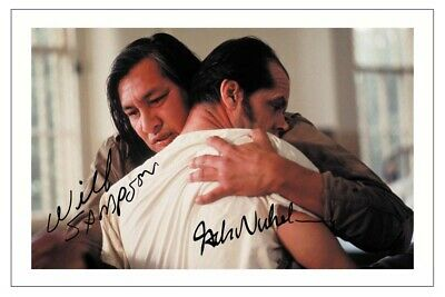 $ CDN3.23 • Buy Jack Nicholson & Will Sampson Signed Photo Print One Flew Over The Cuckoos Nest