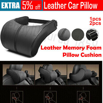 AU15.95 • Buy 1X/2X Car Leather Memory Foam Pillow Seat Head Neck Head Rest Cushions Travel AU