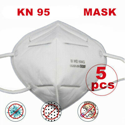 AU19.99 • Buy Disposable Face K N 95 Mask Anti Flu PM2.5 Dust Pollution Respirator 5 Pcs