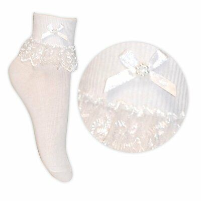 £2.99 • Buy Girls/ladies/baby White Ankle Frilly Lace Socks 1/2/3 Pairs Womens Frill Socks