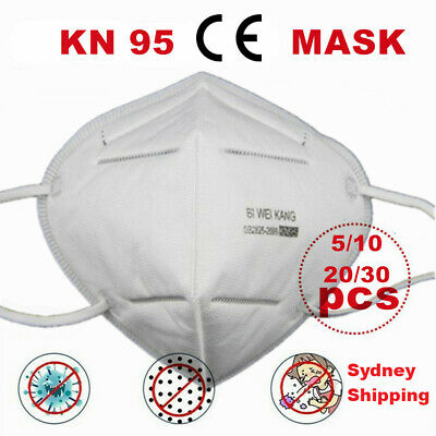 AU34.99 • Buy Disposable Face K N 95 KN 95 Mask PM2.5 Dust Pollution Respirator SYDNEY SELLER