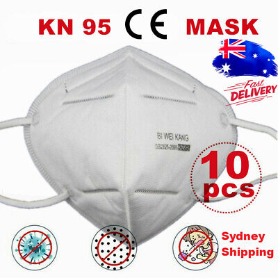 AU34.99 • Buy Disposable Face K N 95 KN 95 Mask Anti Flu PM2.5 Dust Pollution Respirator 10pcs