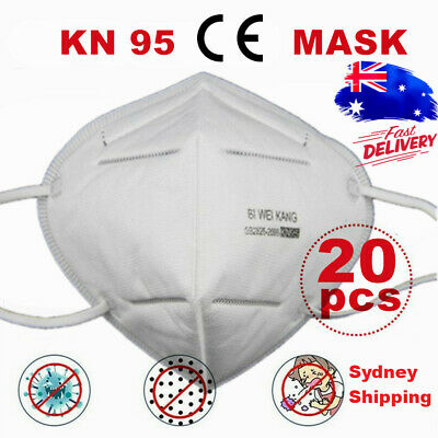 AU54.39 • Buy Disposable Face K N 95 KN 95 Mask Anti Flu PM2.5 Dust Pollution Respirator 20pcs