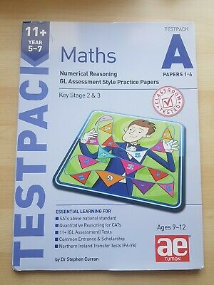 11+ Maths Year 5-7 Testpack A Papers 1-4: Numerical Reasoning New Paperback Book • 8.54£