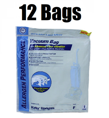 £16.15 • Buy (12) Style F Bags For Kirby Vacuum Allergen Reduction Universal Fit 413160