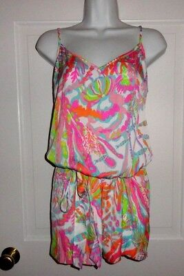 $71.99 • Buy Nwt Lilly Pulitzer Resort White Scuba To Cuba White Deanna Romper Large