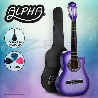 """AU54.95 • Buy Alpha 34"""" Inch Guitar Classical Acoustic Cutaway Wooden Kids Gift 1/2 Size"""