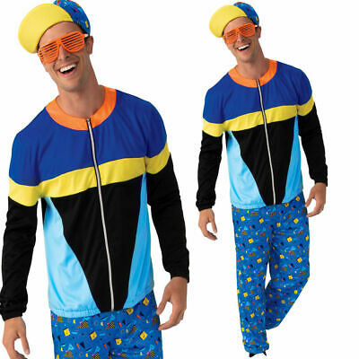 AU57.44 • Buy 80s 90s Tracksuit Scouser Mens Fancy Dress Costume Adults Retro Shell Suit Outfi