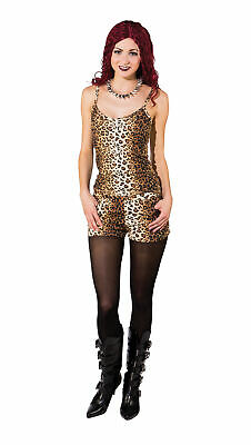 AU42.21 • Buy Ladies Leopard Hot Pants 80s 90s Scary Spice Fancy Dress Outfit New