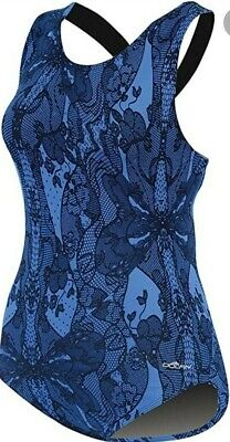 $18.94 • Buy Dolfin Aquashape Racerback 1PC Moderate Lap Swimsuit 16 Womens Blue Lacey NWT