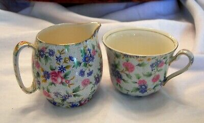 $ CDN30 • Buy Vintage Grimwades ROYAL WINTON Old Cottage Chintz Creamer & Cup