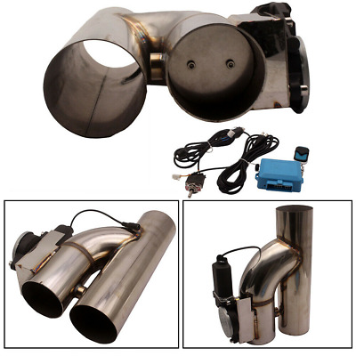 AU119.99 • Buy Universal 3  Y-PIPE CUTOUT VALVE SYSTEM KIT EXHAUST HEADER MUFFLER + SWITCH