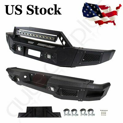 $608.45 • Buy Steel Front / Rear Bumper Full Guard W/ LED Lights D-rings For Ford F150 09-14