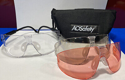 Peltor Safety Glasses Shooting Hunting 3 Interchangeable Lenses Smoke,clear+red • 12.95£