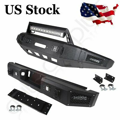 $577.49 • Buy Front / Rear Bumper For Ford F150 2015-2017 Pickup Truck Steel Guard W LED Light