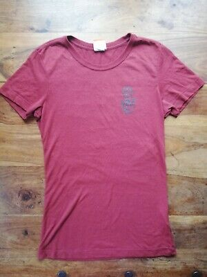 Retro Nike Track And Field T-Shirt Top Tee  Logo Wine Red Small UK 6 8 10  • 4.99£