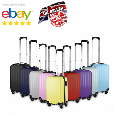 £20.99 • Buy Small 4 Wheel Suitcase Travel Cabin Bag Carry On Hard Case Hand Luggage