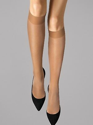 Wolford Bas Longs Satin Touche 20, Knee-Highs • 13.54£
