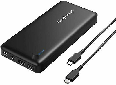 AU124.95 • Buy USB C Power Bank RAVPower 26800 PD Portable Charger 26800mAh Recharged 4.5hr