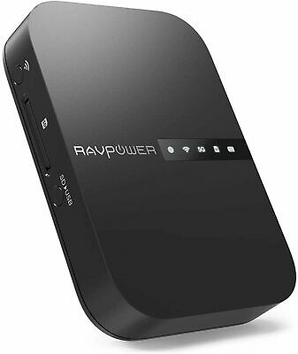 AU87.57 • Buy RAVPower FileHub Travel Router AC750 Wireless SD Card Reader Connect Portable