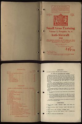 £30 • Buy 1942 WWII Original WAR OFFICE-SMALL ARMS TRAINING-ANTI-AIRCRAFT Pamphlet No6
