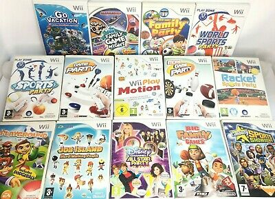 Wii - Mini Games - Family Game Night/Sports Party/Big/More Etc.  *Choose A Game* • 6.95£