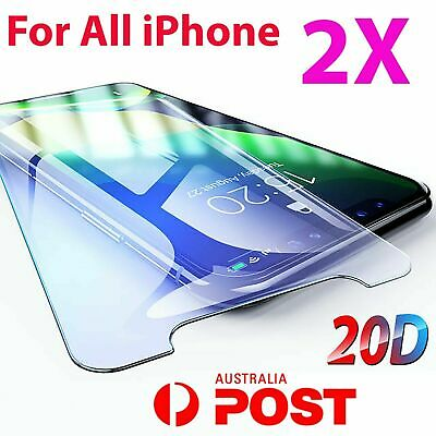 AU4.35 • Buy 2X IPhone XR XS XS Max X 11 PRO 7 8 6S Plus 4 Tempered Glass Screen Protector 5s