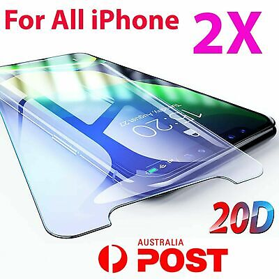 AU4.65 • Buy 2X IPhone XR XS XS Max X 11 PRO 7 8 6S Plus SE 4 Tempered Glass Screen Protector