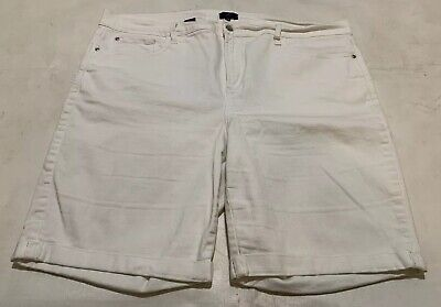 $9.99 • Buy NYDJ Not Your Daughters Jeans Shorts Size 20W Briella Roll Cuff Bermuda White