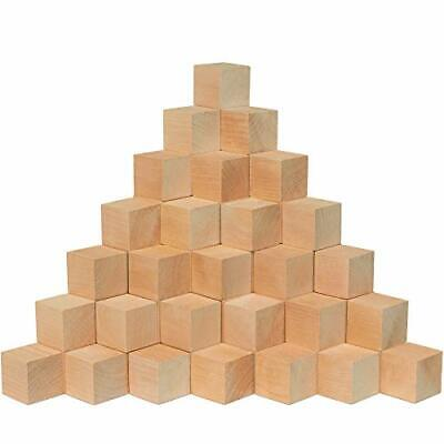 $59.95 • Buy Wooden Cubes 1.5 Inch, Box Of 100 Unfinished Square Blocks - (Pack Of 100)