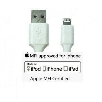 £4.95 • Buy Apple Certified MFi Lightning Cable USB Charger Data Lead For IPhone IPad IPod