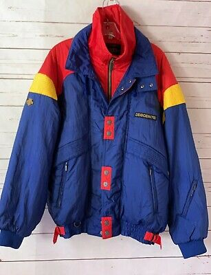 $49.99 • Buy DESCENTE Mens Size L Insulated Snow Ski Jacket US Ski Team Vintage Blue Red