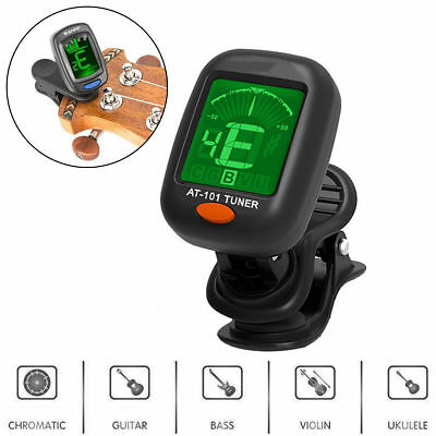 AU6.59 • Buy LCD Clip-on Electronic Digital Guitar Tuner For Ukulele Violin Bass Picker