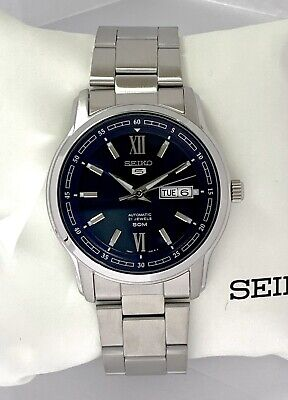 $ CDN184.06 • Buy SEIKO 5 Automatic Watch Cal 7S26 50m Silver Tone Blue Dial SNKP17K1 SNKP17 NEW