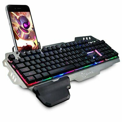 AU40.69 • Buy 104 Keys Gaming Keyboard + Optical Mouse Breathing Backlight Set Computer Office