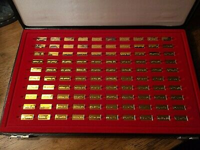 WORLD'S GREAT PERFORMANCE CARS MINIATURES 100 SILVER INGOTS COMPLETE W COAs! • 328.39£